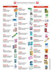 Toothfriendly Product List